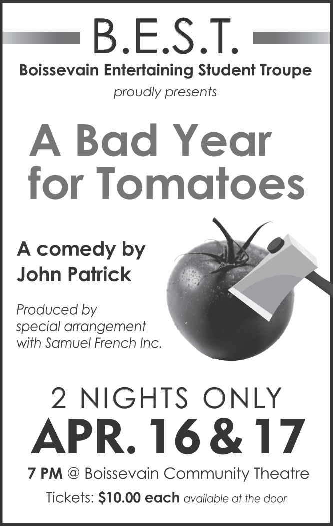 [A Bad Year For Tomatoes \ a comedy by John Patrick poster]