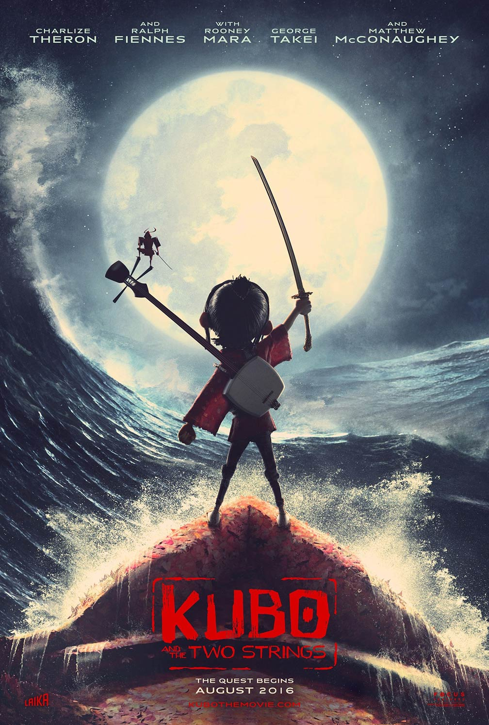 [Kubo and the Two Strings poster]